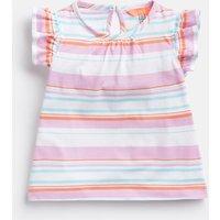 MAUVE WHITE MULTI STRIPE Kaela Jersey Printed T-Shirt 1-6 Yr  Size 2yr