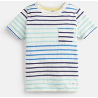 CREAM BLUE STRIPE Caspian Stripe T-Shirt 3-12 Yr  Size 6yr