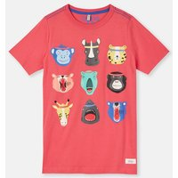 Navy Animal Heads 204639 Screenprint Tee  Size 7Yr-8Yr