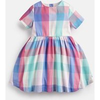 PINK MULTI COLOUR CHECK Martha Woven Printed Dress 1-6yr  Size 6yr