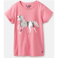 Pink Sequin Horse Astra Applique T-Shirt 3-12 Years  Size 3Yr