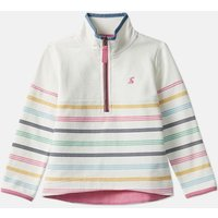 Cream Multi Stripe Fairdale Half Zip Sweat 1-12 Years  Size 3Yr