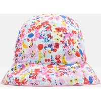 WHITE DITSY Sunseeker Reversible Bucket Hat  Size 6m-12m