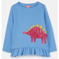 Lake Blue Dino Esme Jersey Peplum Top 1-6 Years  Size 3Yr