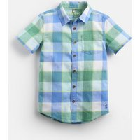 BLUE GREEN GINGHAM Sark short sleeve Check Shirt 1-12 Yr  Size 4yr