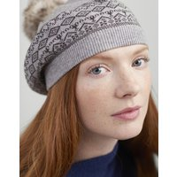 Perbury Fairisle Knitted Beret with a pop-a-pom