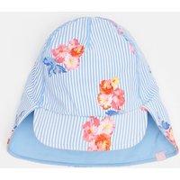 Blue Floral Stripe Paddle Swim Hat  Size 8Yr-12Yr