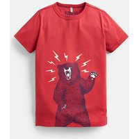 Red Bear Castaway Glow In The Dark T-Shirt 3-12 Years  Size 5Yr