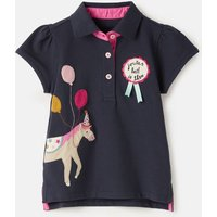 Navy Horse Moxie Polo Shirt 1-12 Years