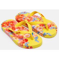 Yellow Floral Printed Flip Flops  Size Childrens 1