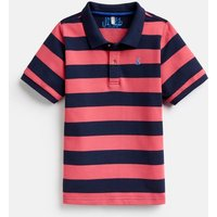 Navy Pink Stripe Filbert Boys Stripe Polo Shirt 3-12 Yr  Size 6Yr