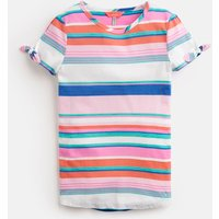 Pink Multi Stripe Liv Tie Sleeve Top 3-12 Yr  Size 3Yr