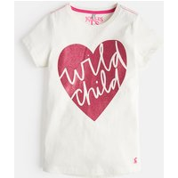 Cream Wild Child 207118 Short Sleeve Graphic Tee  Size 9Yr-10Yr