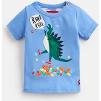Blue Tripping Dino Archie Jersey Applique T-Shirt  Size 0M-3M