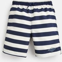 Cream Navy Stripe Ocean Swim Shorts 1-12 Yr  Size 7Yr-8Yr