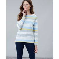 Blue Grey Lemon Stripe Harbour Long Sleeve Jersey Top  Size 18