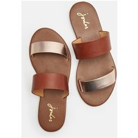 Rose Gold Fenthorpe Two Strap Leather Sandals  Size Adult Size 4