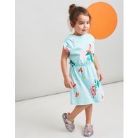 Aqua Floral Annabel Jersey Printed Dress 1-6 Yr  Size 6Yr