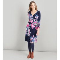 NAVY FLORAL Jude Wrap Dress With 3/4 Sleeve  Size 12