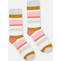 Orange Multi Stripe Brilliant Bamboo Socks  Size One Size