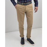 Brown The Laundered Chino Slim Fit Trousers  Size W34-L32