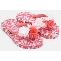 White Petals Printed Flip Flops  Size Childrens 2