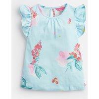 Aqua Floral Kaela Jersey Printed T-Shirt 1-6 Yr  Size 4Yr