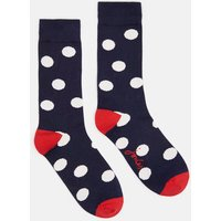 NAVY ALL OVER MULTI SPOT Brilliant bamboo Single Socks  Size