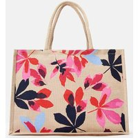 Marine Navy Chestnut Leaves Woodland Trust Jute Shopping Bag  Size One Size