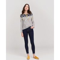 Navy Gold Ditsy Harbour Printed Jersey Top  Size 8