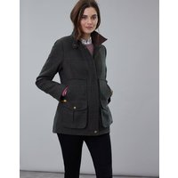 Dark Green Tweed Fieldcoat Tweed Jacket  Size 8