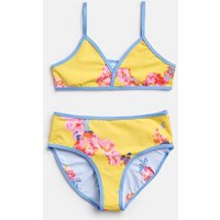 Yellow Floral Oceana Reversible Triangle Bikini 3-12 Yr  Size 6Yr