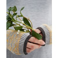 Shiverfree fairisle fingerless gloves