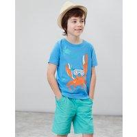 Blue Snorkeling Crab Chomper Applique T-Shirt 1-6 Yr  Size 6Yr