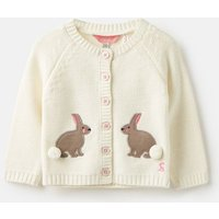 Cream Bunnies Dorrie Knitted Cardigan  Size Newborn