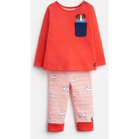 Red Dog Stripe 203984 Top And Joggers Set  Size 3M-6M
