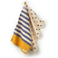 White Multi Spot Tea Towels Two Pack