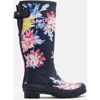 NAVY WHITSTABLE FLORAL 204091 Printed Wellies  Size Adult 6