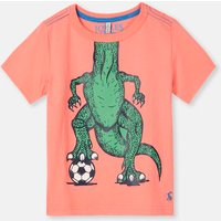 Orange Football Dino Ben Screenprint T-Shirt 1-6Yr  Size 2Yr