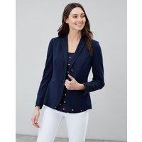 French Navy Mollie Jersey Blazer  Size 10