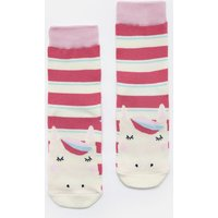 Bright Pink Stripe Horse Neat Feet Character Socks  Size Size 9-12