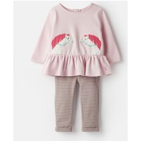Pink Horses Olivia Applique Top And Trousers Set  Size 18M-24M