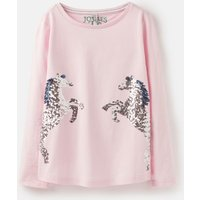 Pink Sequin Horse Ava Applique T-Shirt 3-12 Years  Size 4Yr