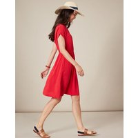 Red Lemon Etty Embroidered Casual Elasticated Waist Dress  Size 10