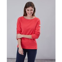 Red Harbour Solid Long Sleeve Jersey Top