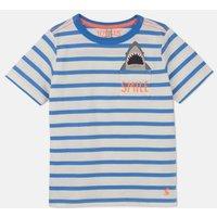 Blue Stripe Shark Peeker Pocket T-Shirt 1-6 Yr  Size 3Yr