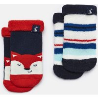 Blue Fox Multi Two Pack Terry Towelling Socks  Size 0M-6M