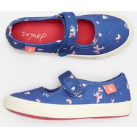 BLUE UNICORN CLOUDS Funday Canvas Strap Pumps  Size Childrens 9