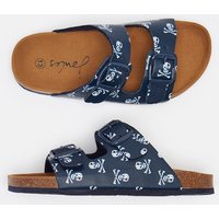 NAVY SKULL AND CROSSBONES Explorer Two Strap Buckle Sandal  Size Childrens Size 12