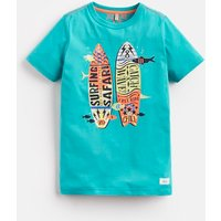 Green Catch A Wave Ben Screenprint T-Shirt 3-12 Yr  Size 9Yr-10Yr